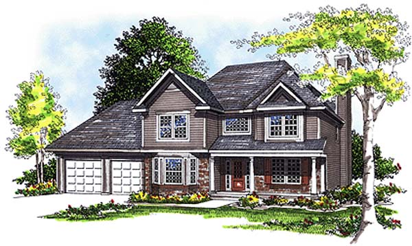 Country House Plan 97110 with 3 Beds, 3 Baths, 2 Car Garage Elevation