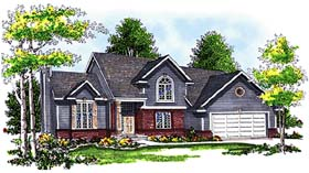 Bungalow European House Plan 97111 Elevation