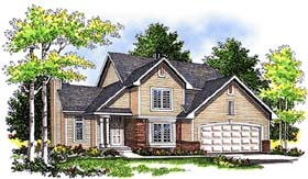 House Plan 97112 | Country Style Plan with 1791 Sq Ft, 3 Bedrooms, 3 Bathrooms, 2 Car Garage Elevation