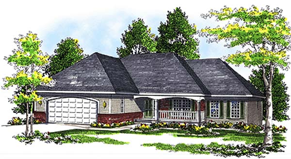 European House Plan 97114 Elevation