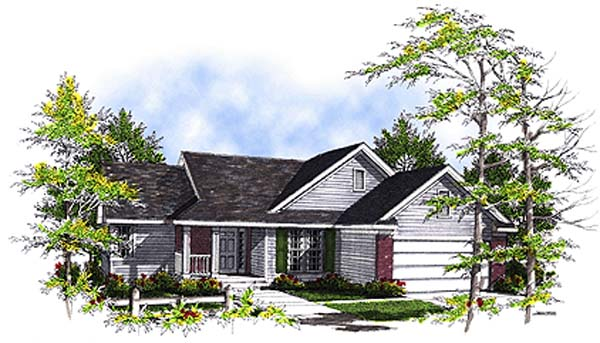 Ranch House Plan 97115 Elevation