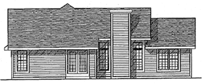 Ranch House Plan 97115 Rear Elevation
