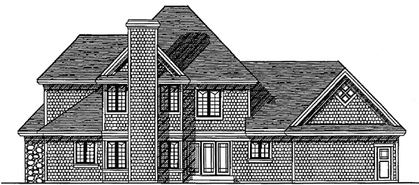 Traditional House Plan 97116 Rear Elevation