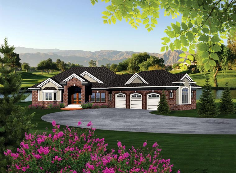 Ranch House Plan 97118 Elevation