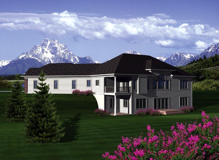 Ranch House Plan 97118 Rear Elevation