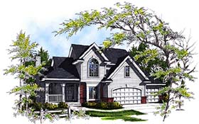 Country House Plan 97120 with 4 Beds, 3 Baths, 3 Car Garage Elevation