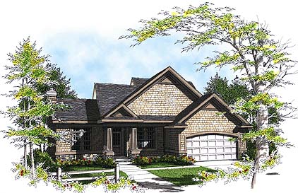 Bungalow House Plan 97121 with 3 Beds , 3 Baths , 2 Car Garage Elevation