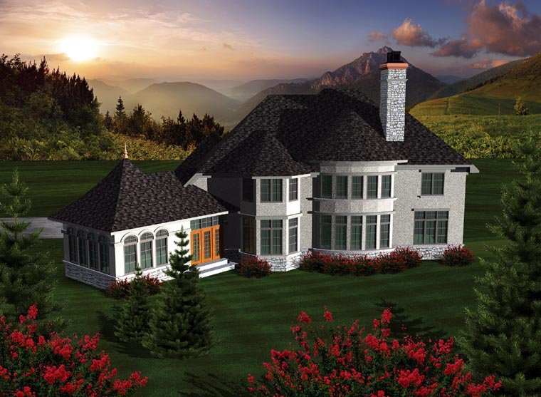 Traditional House Plan 97124 Rear Elevation