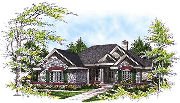 European House Plan 97125 Elevation