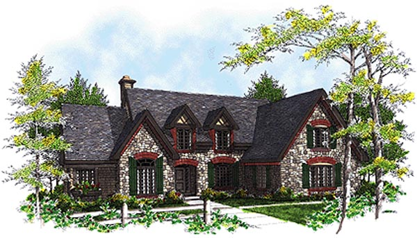 European Tudor House Plan 97126 Elevation