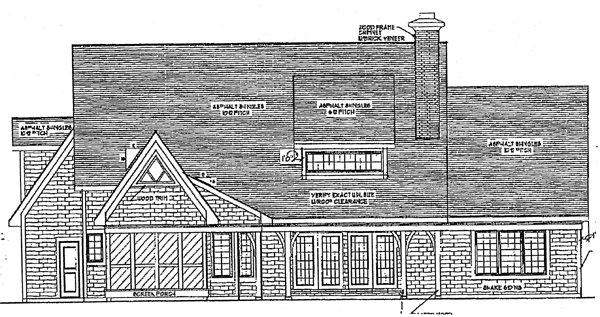 European Tudor House Plan 97126 Rear Elevation
