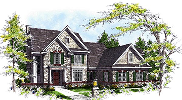 Bungalow, Traditional House Plan 97127 with 3 Beds, 3 Baths, 3 Car Garage Elevation