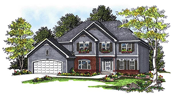 Traditional House Plan 97130 Elevation
