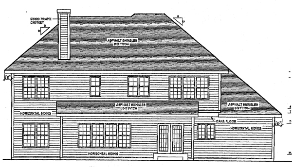 Traditional House Plan 97130 Rear Elevation