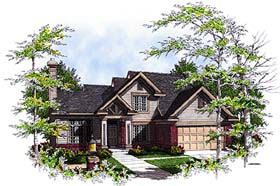 Bungalow , Country House Plan 97131 with 4 Beds, 3 Baths, 2 Car Garage Elevation