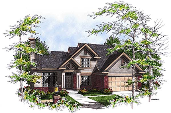 Bungalow Country Elevation of Plan 97131