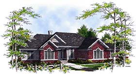 House Plan 97132 | Ranch Traditional Style Plan with 2469 Sq Ft, 3 Bedrooms, 3 Bathrooms, 3 Car Garage Elevation