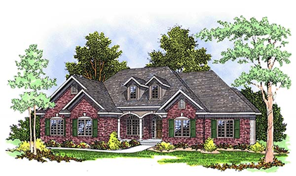 European , Country House Plan 97135 with 3 Beds, 2 Baths, 2 Car Garage Elevation
