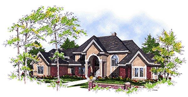 European House Plan 97139 Elevation