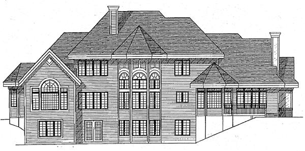 European House Plan 97139 Rear Elevation