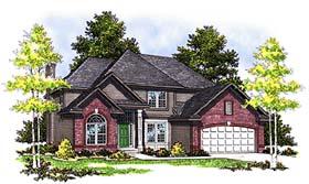 European House Plan 97142 Elevation