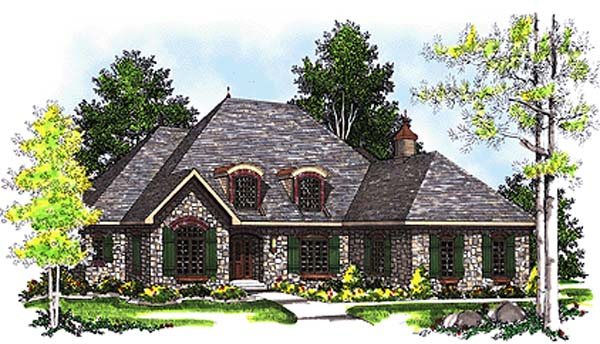 Bungalow European House Plan 97143 Elevation