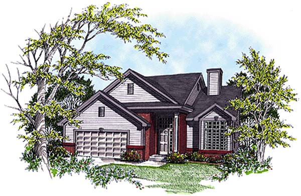 Country House Plan 97147 with 3 Beds, 3 Baths, 2 Car Garage Elevation