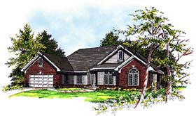 House Plan 97150 | European Style House Plan with 2153 Sq Ft, 3 Bed, 2 Bath, 2 Car Garage Elevation