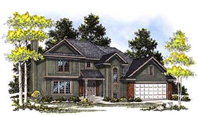 House Plan 97153 | Country Style Plan with 1679 Sq Ft, 3 Bedrooms, 3 Bathrooms, 2 Car Garage Elevation