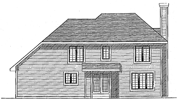 Country Rear Elevation of Plan 97153