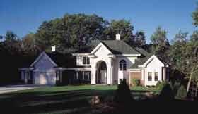 European House Plan 97156 Elevation