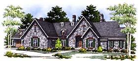 Tudor , European House Plan 97157 with 5 Beds, 5 Baths, 4 Car Garage Elevation