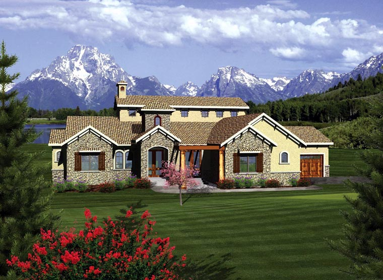 Ranch House Plan 97159 Elevation