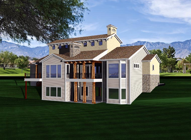 Ranch House Plan 97159 Rear Elevation