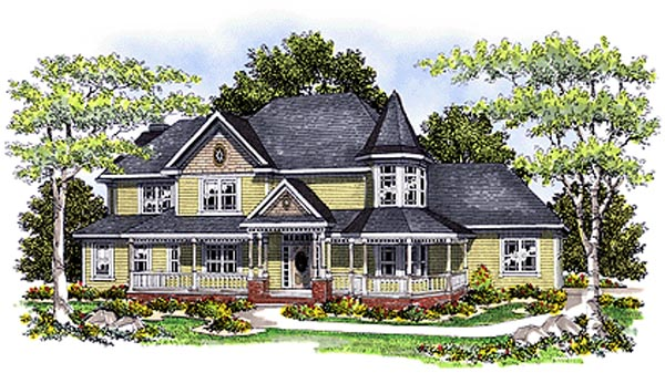 Farmhouse Victorian House Plan 97161 Elevation