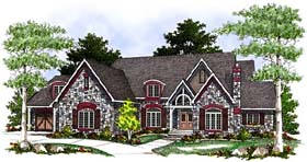 European Tudor House Plan 97162 Elevation