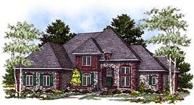 European , Bungalow House Plan 97165 with 4 Beds, 4 Baths, 3 Car Garage Elevation