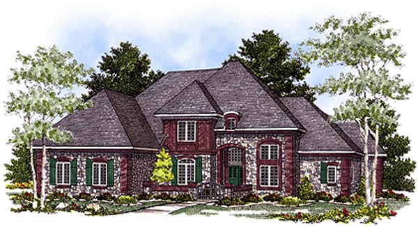 Bungalow European House Plan 97165 Elevation