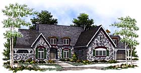 Country , Cape Cod House Plan 97166 with 3 Beds, 3 Baths, 4 Car Garage Elevation