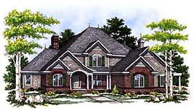 European House Plan 97169 with 4 Beds, 4 Baths, 3 Car Garage Elevation