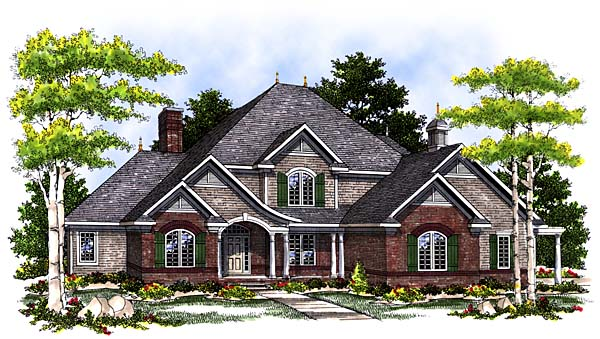 European House Plan 97169 Elevation