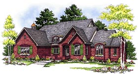 European , Tudor House Plan 97170 with 4 Beds, 4 Baths, 3 Car Garage Elevation