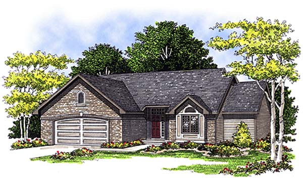 Ranch House Plan 97171 Elevation
