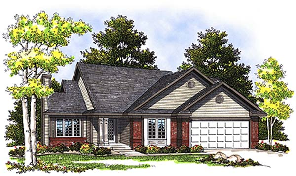 Ranch House Plan 97176 Elevation