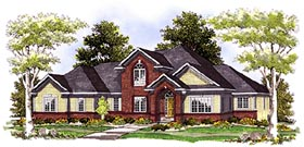 House Plan 97179 | European Traditional Style Plan with 2783 Sq Ft, 3 Bedrooms, 3 Bathrooms, 3 Car Garage Elevation
