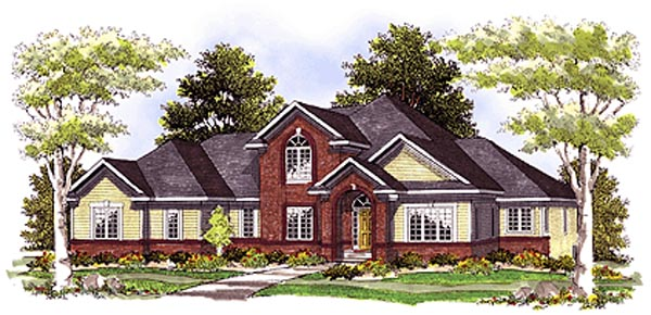 European Traditional House Plan 97179 Elevation