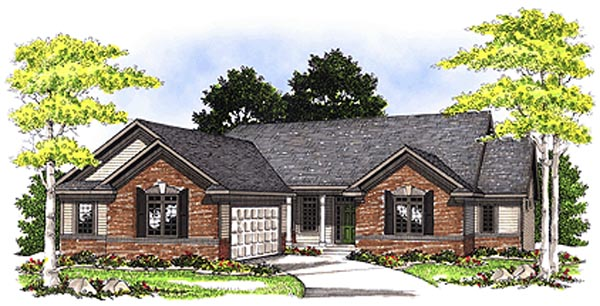 Ranch House Plan 97183 Elevation