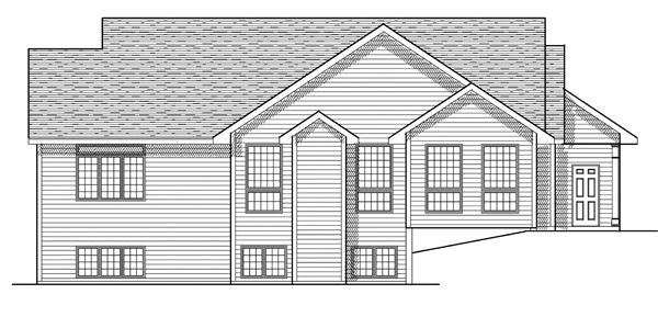 Ranch House Plan 97183 Rear Elevation