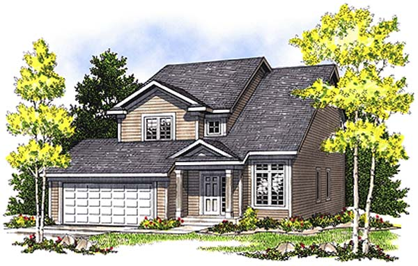 Contemporary House Plan 97185 Elevation