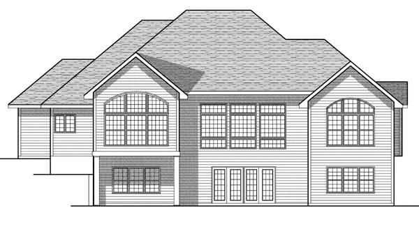 European House Plan 97187 Rear Elevation
